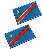 2pcs Congo Flag...image