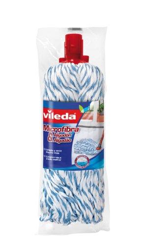 Vileda Microfibras y algodón - Recambio para fregona, ideal para suelos duros,...