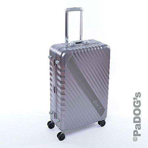 Cool-9 Aluminium-Reisekoffer dunkel grau L, 92 Liter Volumen, mit TSA Zahlenschloß. 4 Leichtlaufdoppelrollen, Teleskopgriff, edles Design aus Aluminium
