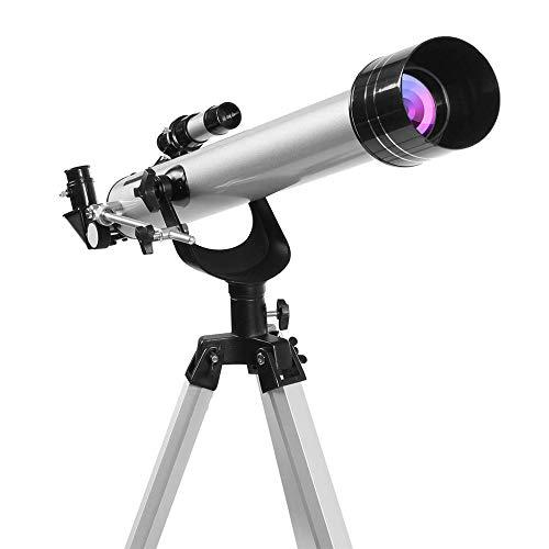 Telescope, 525X hoge vergrotingsfactor Astronomische breken telescoop met 3 stuks oculairs, Tripod - Gemakkelijk te installeren - voor Kids & Beginners Learning