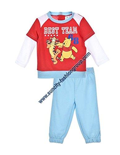 Jogging bébé garçon Winnie l'ourson et Tigrou Bleu et Rouge de 6 à 23mois (18 mois, Rouge/bleu)