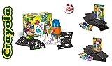 Crayola. Aerógrafo - Bomba de dibujo de papel con diseño de aerógrafo, ideal como regalo para niño, juego + set de recambio rosa de rotuladores y plantilla + juego de 30 bolígrafos con purpurina
