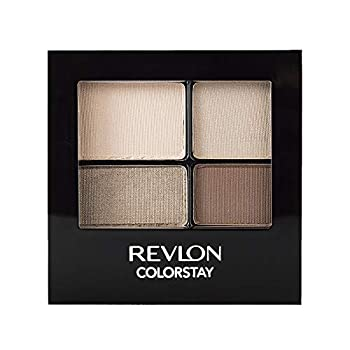 REVLON ColorStay 16 Hour Eyeshadow Quad with Dual-Ended Applicator Brush Longwear Intense Color Smooth Eye Makeup for Day & Night Addictive  500  0.16 Oz