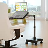 LEVO G2 Rolling Laptop Workstation Stand Desk for Art, Laptops, Books, and Tablets Made for Sofa, Bed, Chair, or Standing