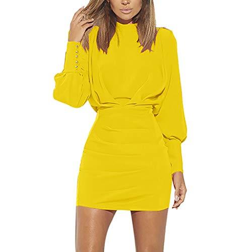 Vestido amarillo de fiesta con espalda descubierta