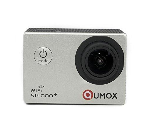 QUMOX multifunzione SJ4000+ Più WiFi 2K HD 1080P 720P impermeabilizzano Action Sports Helmetcamera Digital Video Recorder DVR Camcorder, 12 mega pixel, 170 ° HD grandangolare, con custodia impermeabile multiple Mounts (argento)