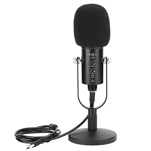 PUSOKEI Micrófono de Condensador de Audio de Alta fidelidad, micrófono de Condensador de grabación para KTV/Audio/Estudio, Plug and Play, micrófono USB de Sonido Envolvente estéreo de Alta...