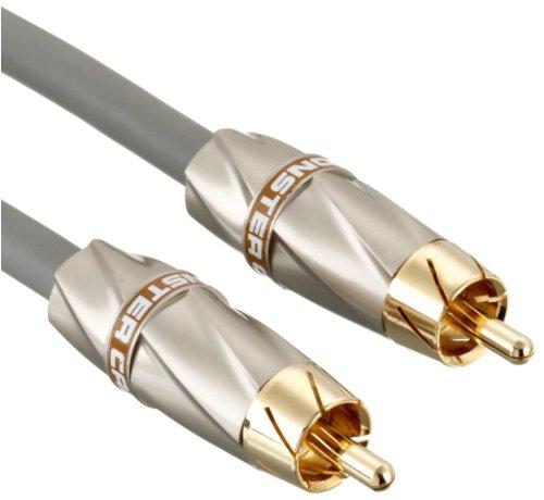 Monster 132539 High Performance Subwoofer Cable 450SW (Cinch-Kabel speziell für Subwoofer) 4 Meter