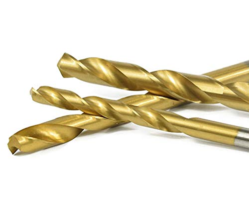 Titanium Bohrer Set Metall Spiralbohrer Handspiralbohrer 1/1,5/2/ 2,5/3 mm 50 Stück