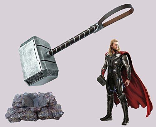 Il Nuovo Mondo Mjöllnir Martello di Thor con base, Replica scala 1:1 in resina, Avengers