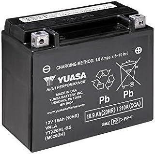 Batería Yuasa ytx20hl de BS, 12V/18Ah (Dimensiones: 175x 87x 155) para Harley Davidson CVO 1800Screamin 'Eagle fxdfse Fat Bob Diseño Año 2010