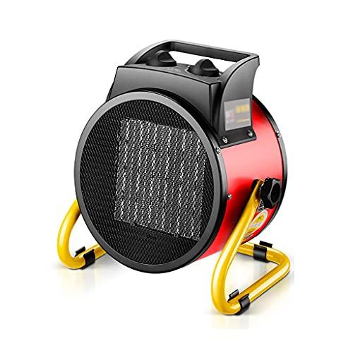 Calefactores Calentador de ventilador industrial 2000W con calentamiento de cerámica eléctrica de calefacción rápida termostática ajustable con protección contra sobrecalentamiento ( Color : Red )