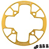 UPANBIKE Montain Bike Chainring Guard 104 BCD aleación de aluminio cadena anillo protector cubierta para 32 ~ 34T 36 ~ 38T 40 ~ 42T Chainring piñones (dorado, 32T ~ 34T)