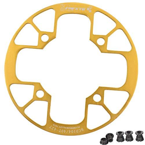 UPANBIKE Fahrrad Kettenblatt Schutz für Mountainbikes 104 BCD Aluminiumlegierung Kettenblattschutz für (40~42T,Gold)