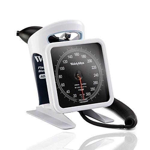 Welch Allyn 7670–16Aneroid-Blutdruckmessgerät, Flexi Port wiederverwendbar, Gold 22-Schlauch Oberarm Manschette, Premium Inflation Birne und Ventil, 2,4m Spiralschlauch, Größe 11, Erwachsene