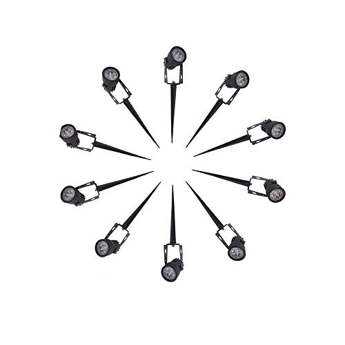 GQDBASGEHW 10pcs 220V 12V LED Garden Light 1w 3w IP65 Waterproof Outdoor Lighting Spot Flood Lawn Lamp Led Lights Warm/Cold White