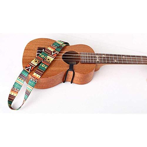 Ritapreaty gitaar riem etnische stijl kleurrijke Ukulele riem thermische overdracht lint duurzaam verstelbare lengte riem