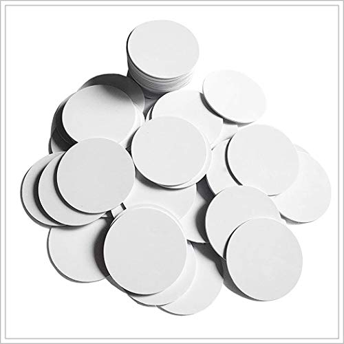 (50PCS)Ntag215 NFC Tags,Blank PVC Coin NFC Cards 25mm(0.98 inch)504 Bytes Memory,Compatible with All NFC Enabled Mobile Phones & Devices