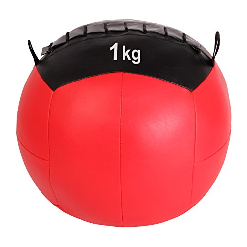 Balón medicinal Wall Ball, 1-10 kg, 1 kg / Rot: Amazon.es ...