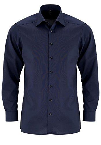 Herren Hemd Modern Fit Langarm, nachtblau, Gr. 41
