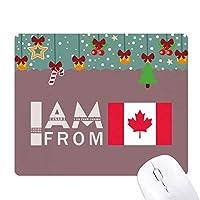 私はカナダから ゲーム用スライドゴムのマウスパッドクリスマス