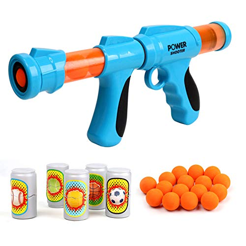 Power Popper Gun, Air Powered Toy Gun, Fast Shooting Foam Ball Blaster Gun, Shooting Toy Gun for...