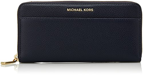 """Leather Zip-around closure Outside slip pocket for discreetly tucking ticket stubs or receipts 3 open interior pockets, 1 zip compartment, 2 slip pockets & 12 card slots 8""""W x 4""""H x 1""""D"""
