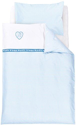 Träumeland tt14402 Herzilein, Parure de lit pour bébé 100 x 135 cm Bleu