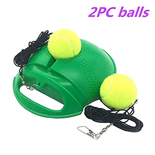 1PC Tennis Training Rebound Ball Tennis Trainer Practice Equipment Tennis Ball Machine Portable Training Gear for Kids Beginner Tennis Trainer Orange