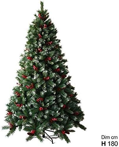 mejor marca LIBERAONLINE Abeto árbol Navidad 180cm con Bayas Piñas Germinación Germinación Germinación ciuffi Nieve   pin17  descuento de ventas