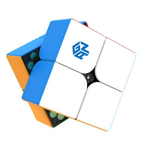 GAN 251 M, 2x2 Magnético Cubo Mágico Velocidad Juguete Rompecabezas Gan251 (Sin Pegatinas)