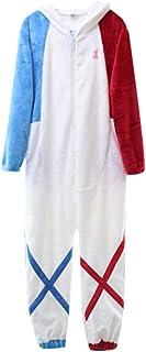 Anime Darling in The Franxx Onesies Pijamas/Split Pijamas Set Adultos Niños Ropa de Dormir Anime Dress Up Cartoon Party Halloween Christmas Sleepwear 130-175cm