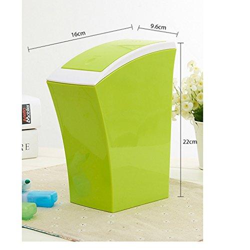 WEBO HOME- Ordinateur de bureau Boîtes à ordures Poubelle Bac de rangement Mini poubelle de nettoyage Nettoyeur de bureau -Poubelle (Couleur : Vert)