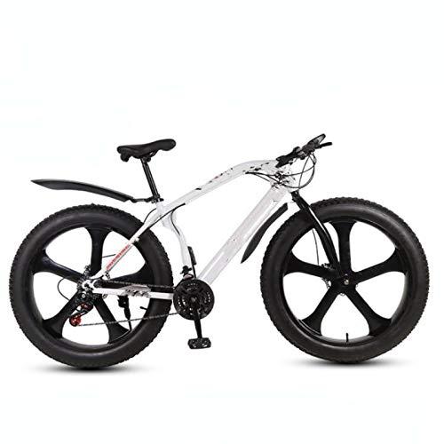 Vélo de montagne 26 pouces 26 x 4.0 gros pneu double frein à disque, pour l'environnement urbain et les trajets vers et depuis le travail