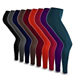 Thermo Leggings Super Warm Fleece Blickdicht Strumpfhose Leggins Legging NEU ( (XXL), Schwarz