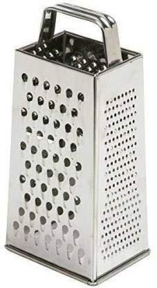 24x7 Rallador de queso de acero inoxidable Rallador de verduras 4 rallador lateral rebanador Kaddukas