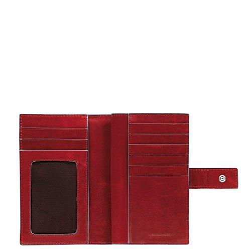 Piquadro Blue Square Münzbörse, 0.54 liters, Rot (Rosso)