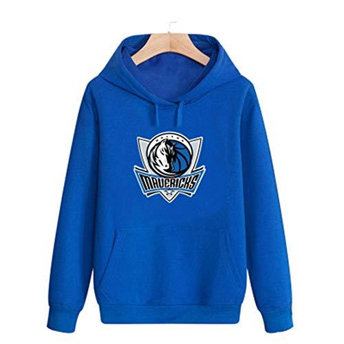 ZSPSHOP NBA - Jersey de manga larga para hombre, con capucha y jersey, color azul, poliéster, c, S