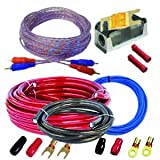 CAR HIFI Verstärker Endstufe Kabel Anschlusskabel KOMPLETTSATZ 10 qmm mit Cinch Kabel … ARLWK10Kit