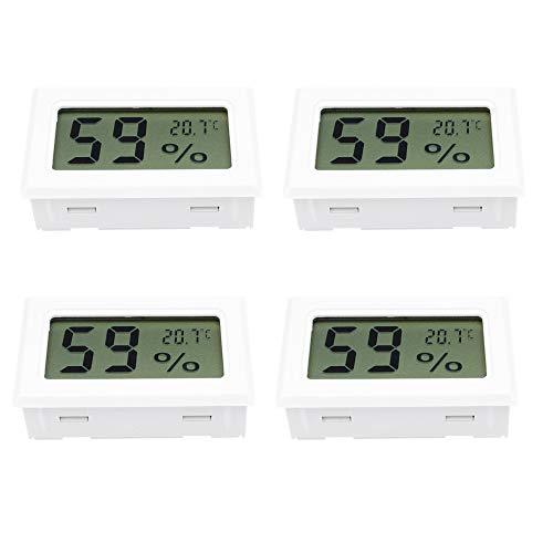 Aideepen 4 PZ Bianco Mini LCD Termometro Digitale Igrometro Temperatura Indoor Comodo Sensore di Temperatura Misuratore di Umidità Strumenti