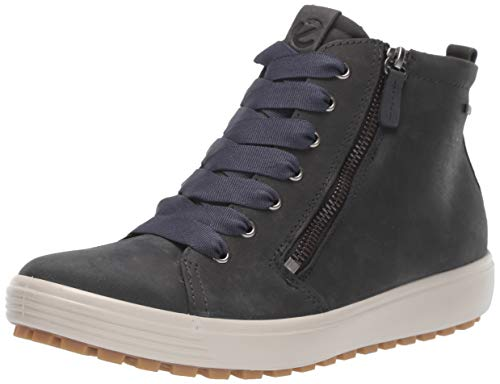 ECCO Women's Soft 7 Tred Gore-TEX High Chukka Boot, Marine Oil Nubuck, 38 M EU (7-7.5 US)