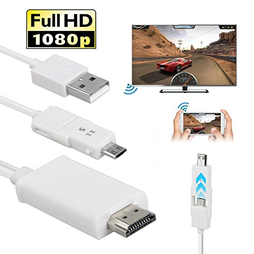 DishyKooker Adaptador de Cable MHL Micro USB a HDMI HD 1080P TV...