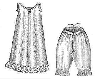 1885 Chemise and Drawers Sewing Pattern