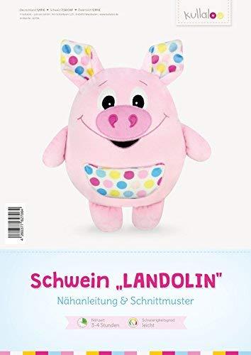 kullaloo - Schnittmuster & Nähanleitung für Kuschelkissen Schwein Landolin (deutsch)