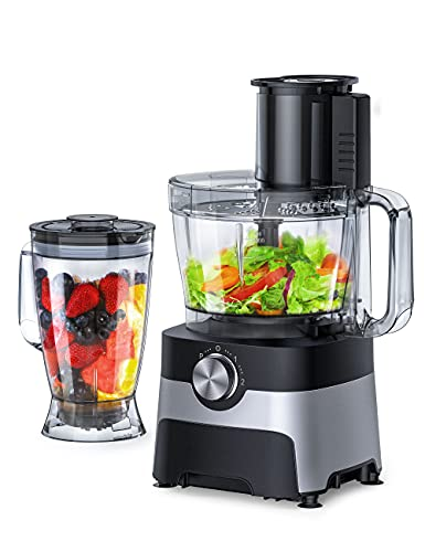 Food Processor, chani Blender for Shakes and Smoothies, 9-Cup Food Processors with 6 accessories for Chopping, Shredding, and Slicing