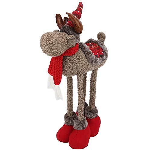 Schöne einzigartige Weihnachtselchpuppe, einziehbare Elchpuppe, Freunde für Familienangehörige Weihnachtsfeier(brown)