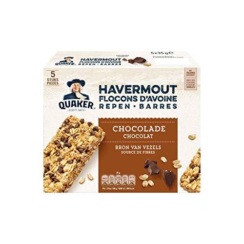 Barra De Avena Con Chocolate | Quaker | Barras De Avena Chocolate 5 x 35g | Peso total 150 gramos