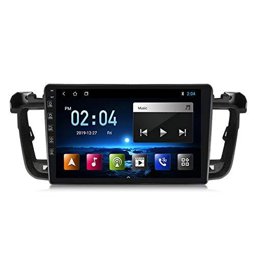 ADMLZQQ Android10.0 2 DIN Radio de Coche Autoradio Coche Estéreo con GPS Navegador para Peugeot 508 2011-2018 Soporte FM Controles del volante/Mirror-Link/Subwoofer/1080P HD Video,M100,1+16G