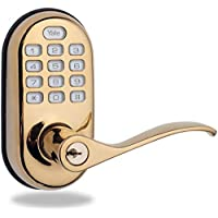 Yale Security Real Living Standalone Keyless Push Button Lever Lock