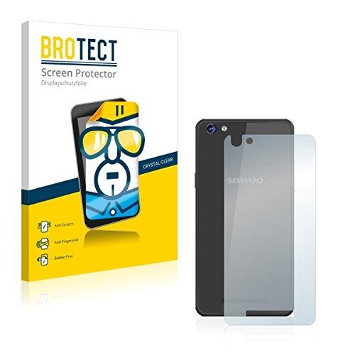 2X BROTECT HD Clear Bildschirmschutz Schutzfolie für Siswoo C50 Longbow (Rückseite) (kristallklar, extrem Kratzfest, schmutzabweisend)